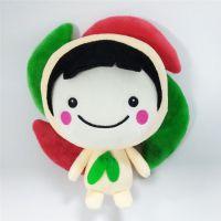 吉祥物毛绒玩具风车娃娃生产厂家直销可来图打样设计加logo定制