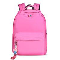 2019年新款中学生书包 20-35L涤纶纯色女款双肩包 休闲简约背包定制印花旅游户外双肩包
