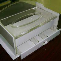 亚克力酒店用品纸巾盒 定制有机玻璃酒店客房纸巾盒