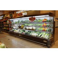 生鲜超市蔬菜保鲜柜 净菜展示柜 水果风幕柜
