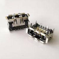 四脚插板/SATA +USB 2.0 AM 12Pin二合一母座 卷边有柱 PCB-创粤