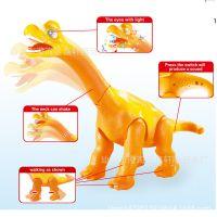 儿童电动声光恐龙玩具 卡通电动雷龙公仔 生日礼物恐龙世界玩具
