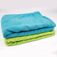 浴巾厂家定制超细纤维双面珊瑚绒沙滩巾 70*140柔软纯色速干浴巾