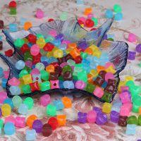 四角果冻串珠 亚克力珠子10mm  DIY手工串珠纸巾盒配件散装批发