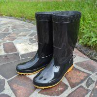 创盛823 男中筒雨鞋男士劳保水鞋 工地牛筋雨靴中帮防水防滑胶鞋