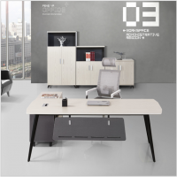 江西办公家具简约钢木电脑桌笔记本家用书桌单人写字台办公桌台式桌厂家直销