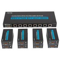 臻泓科技 厂家直销HDMI一进八出分配器带60米网线延长