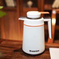 韩国杯具熊 新款保温水壶 热水瓶 按压式暖水壶 白/黑/紫/粉1.6L