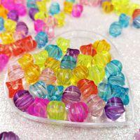透明塑料亚克力凹四方混色散珠儿童diy串珠材料饰品服饰鞋饰配件