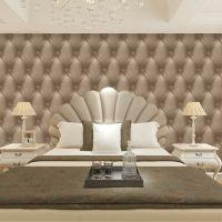 仿软包墙纸3D影视背景墙立体墙壁纸欧式现代简约床头软包客厅卧室