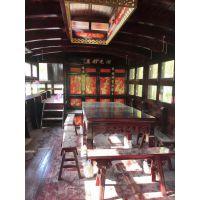 兴化市华海木船厂供应定做嘉兴南湖红船 中共一大纪念船 画舫船 展览道具船