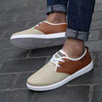 牛派男士网布鞋休闲赖人套脚鞋时尚运动板鞋青春潮流男式透气布鞋