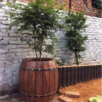 淮南道路绿化带隔离仿木花箱 中达水泥仿木花箱厂家