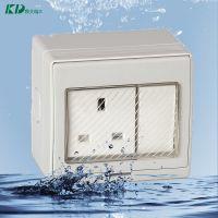 一位单控开关加一位英式插座 KD-SS防水插座带开关 装修安全插座