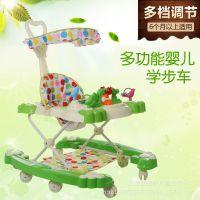 厂家批发高档童车摇马车学步车带遮阳棚音乐手推多功能儿童学步车