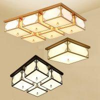 简约方形新中式LED吸顶灯 现代客厅禅意仿古灯具卧室灯房间装修