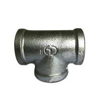 镀锌玛钢正三通 消防工程 天燃气改造DN50洒水车 铁管件 沟槽管件
