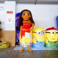 行走卡通人偶服装Cosplay表演服饰海洋奇缘莫安娜人偶服装