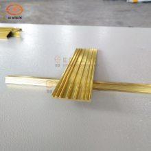 加厚3 4 5公分 平地板楼梯防滑铜条 一字型黄铜压条 大理石防滑条 工厂定制铜型材