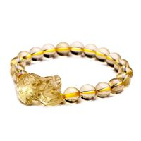 风水开光合成黄晶貔貅手链手串招财旺财男女时尚饰品佛珠串