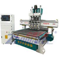 山东中威机械1325四工序衣橱柜雕刻机