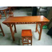 古典中式实木中小学生课桌椅书法培训班课桌椅衡杨