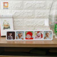 新品推荐 热卖藏资5图创意儿童相框摆台 大头照相框 连体相框批发