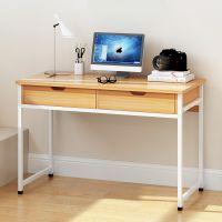 小办公桌带抽屉书桌电脑台式桌家用多功能经济型1米80cm单人