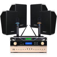 狮乐会议音响套装K-555C/BG-6培训室店铺学校设备音箱功放话筒厂家