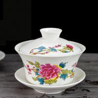 青花瓷盖碗 多款画面盖碗礼品
