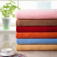 外贸素色珊瑚绒毛毯贵族绒通信店铺礼品毯进店点赞订单礼品