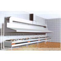 饭店厨房排烟罩烧烤排烟油烟罩白铁皮不锈钢加工安装