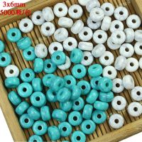 3x6  饰品配件批发绿松石桶珠 diy串珠串珠配饰 蜜蜡 隔珠 顶珠