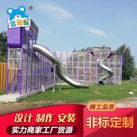 不锈钢商城滑梯户外内旋转不锈钢滑梯儿童游乐螺旋滑滑梯可定做
