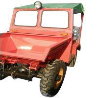 各种厚度工地用翻斗车 操作简单的前卸式翻斗车 水田云苗用的四轮车