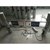 超市手动圆柱摆闸 HSM-BZ立式单向通道闸机 不锈钢闸鸿顺盟生产厂家