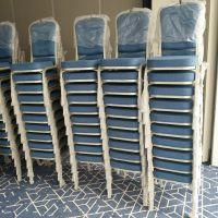 上海五星级酒店宴会家具 宴会厅铝合金椅折叠圆桌订做