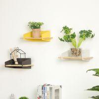 现代简约家居铁艺搁板置物架 厨房卫生间收纳架墙上装饰整理架