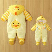 加绒服12宝宝保暖抱衣8爬服3新生儿0棉衣6个月婴儿冬装外出