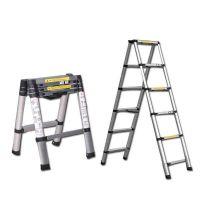 厂家批发多功能梯 家用梯 铝合金折叠伸缩梯 家庭户外用升降梯
