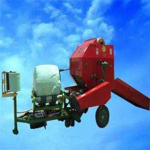 绿化发酵草料包膜机 干湿牧草麻绳打捆机 热销环保秸秆打捆机