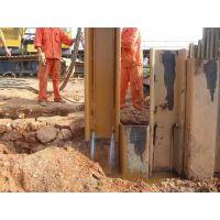 金山区小松500桩机打拔拉森钢板桩基坑支护金山出租拉森桩 H型钢 钢管桩、水泥桩打拔止水围护施工,