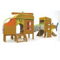 木质组合滑梯户外木质滑梯攀爬网亲子餐厅园林游乐设备室外儿童乐园非标可加工定做