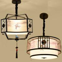 新中式吊灯创意个性餐厅吊灯吧台卧室灯小鸟现代简约仿古中式灯具