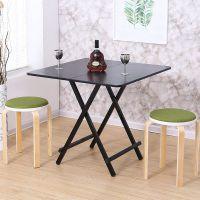 简易餐桌折叠桌子家用小型2/4人吃饭便携正方形多功能小方饭桌