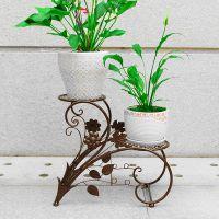 阳台落地式阶梯花盆架客厅花架子室内外欧式铁艺吊兰绿萝花架花几