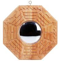 风水精雕桃木八卦镜挂件太极乾坤八卦镜凸镜凹镜工艺品