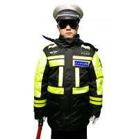 交警冬季加厚夹棉反光防冻防寒防雨有内胆路政执法执勤服反光衣