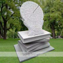 石雕日晷锈石校园广场古代计时器太阳石头表大理石书本底座刻字圭表华表雕塑摆件曲阳万洋雕刻厂家定做