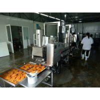 腊鸡排成型机 肉饼上浆上糠机 鸡排生产流水线